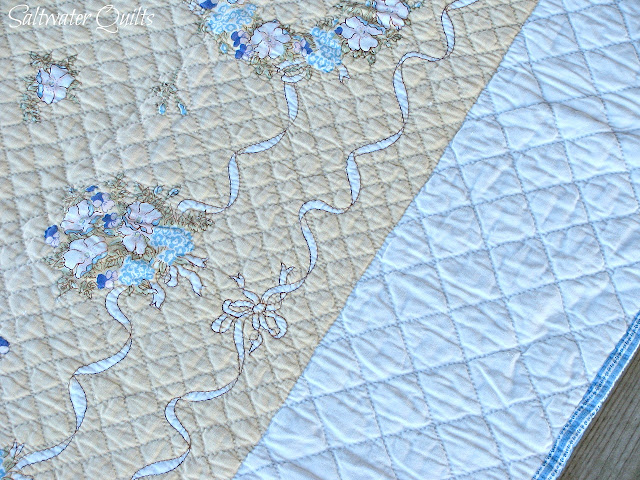 Cheater Quilt | Linen Table Cloth Quilt | © Saltwater Quilts 2012