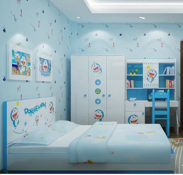 trang tri phòng ngủ doremon 01