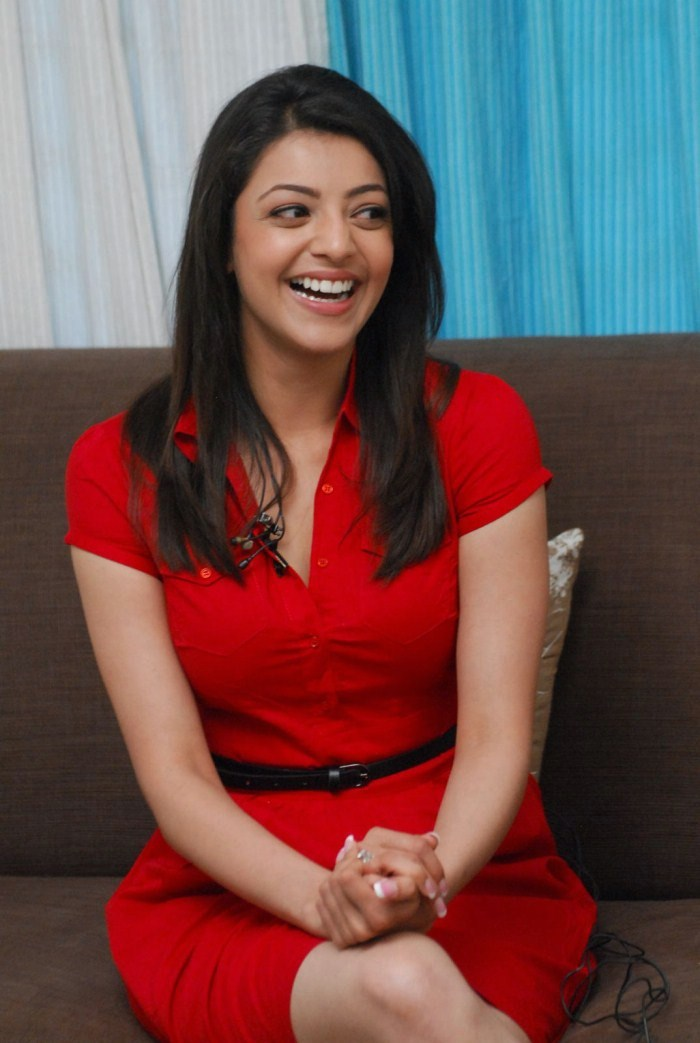 Gorgeous Kajal Agarwal Beautiful Photos In Red Dress