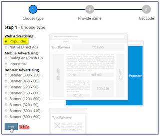 cara daftar dan pasang iklan propeller ads