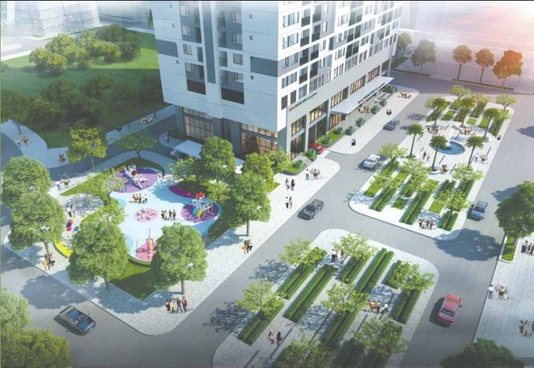 Chung cư Phú Mỹ Complex - Không gian xanh giúp cư dân hạnh phúc