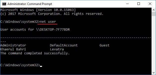 Cara Mengganti Password User Windows Melalui CMD