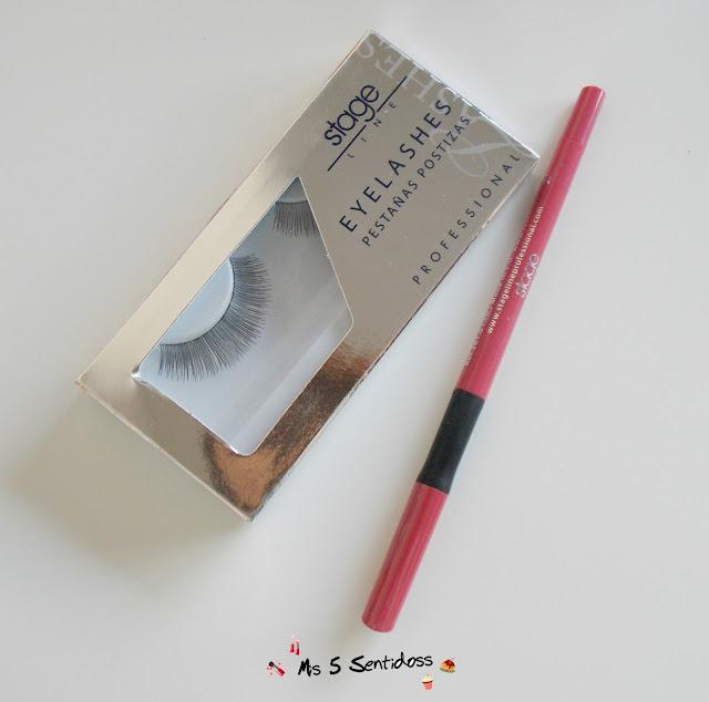 stage line Pestañas postizas y delineador de labios