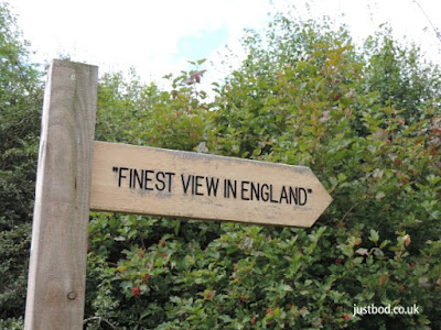 Signpost to the finest view in England, Sutton Bank, Yorkshire