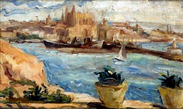 Viktor Kallinik Gousseff, Puerto de Mallorca, Mallorca en Pintura, Mallorca pintada, Paisajes de Mallorca