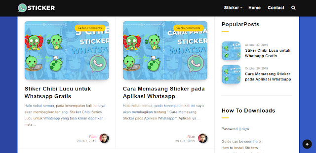 Tempat Mendapatkan Sticker Whatsapp Gratis