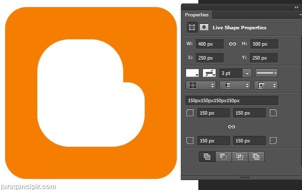 membuat logo blogger di photoshop