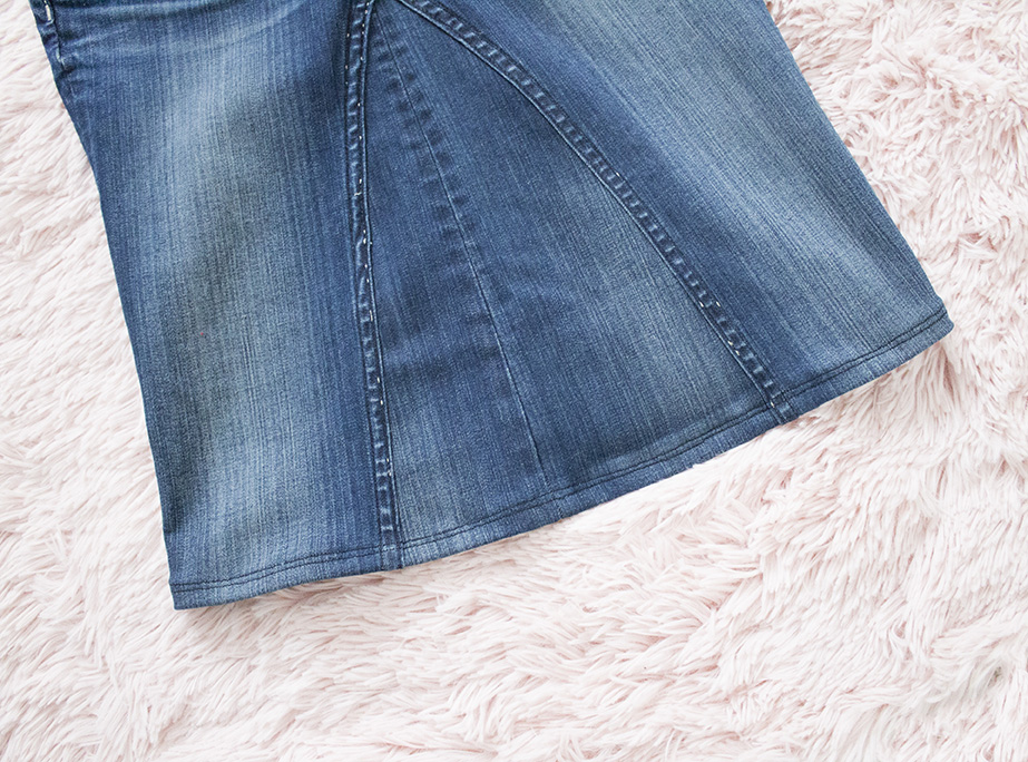 new denim skirt hem