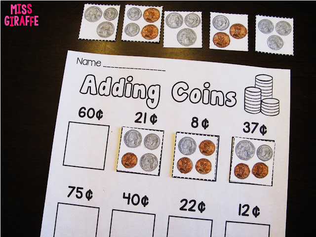 Adding coins worksheets and activities that turn making change into a fun hands on center