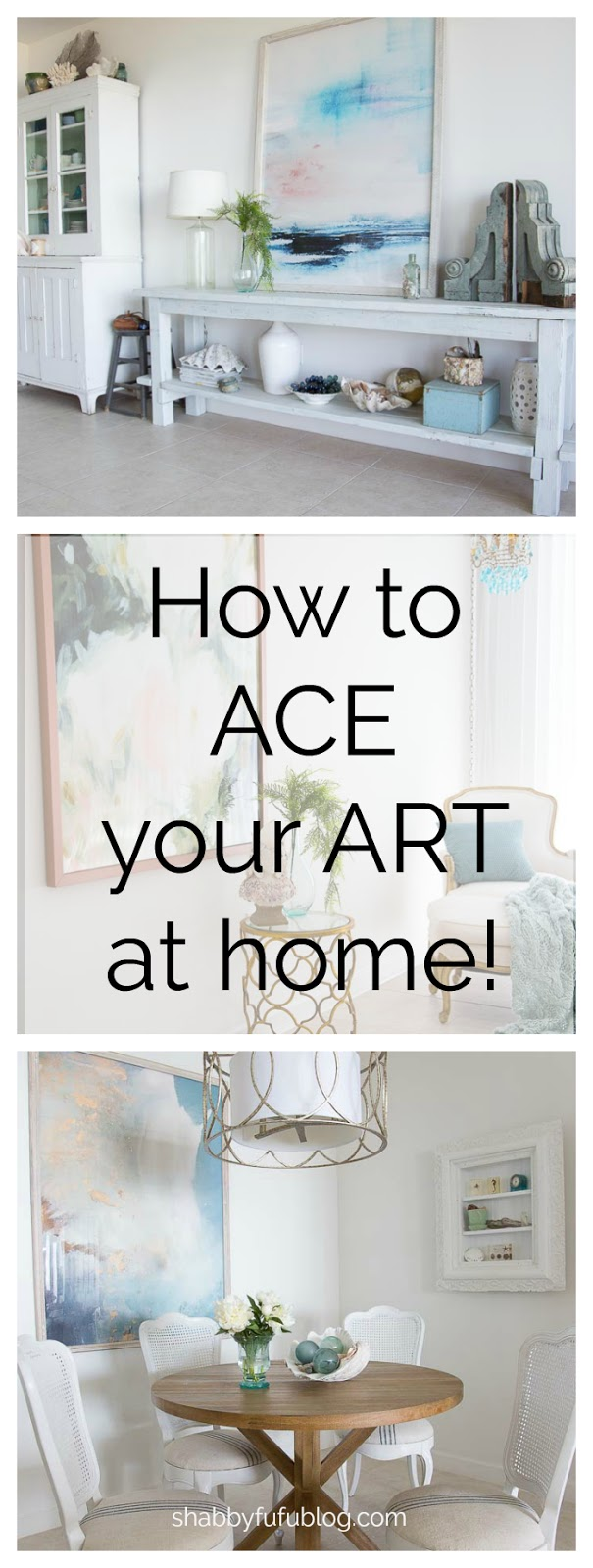 how to style home with oversized art work
