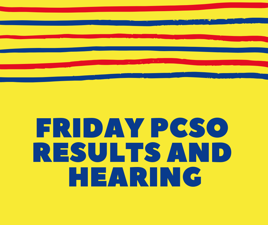 PCSO Results and Hearing: February 1 2019 (11AM, 4PM, 9PM