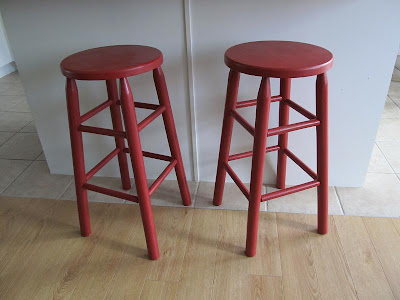 Queen B Creative Me Polka Dotted Kitchen Stools