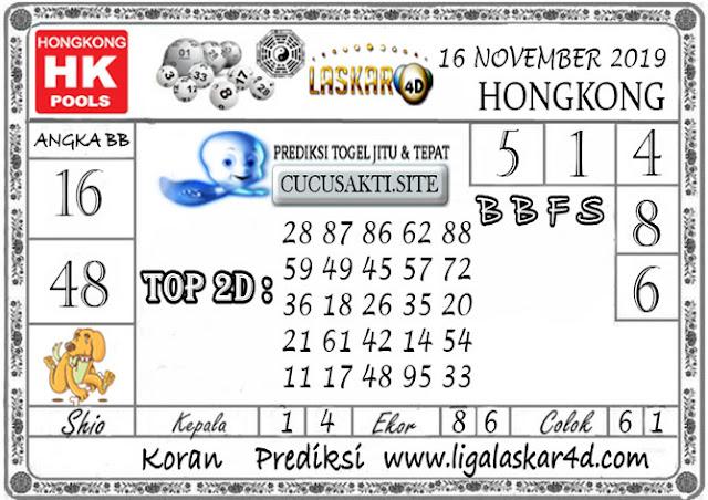 Prediksi Togel HONGKONG LASKAR4D 16 NOVEMBER 2019