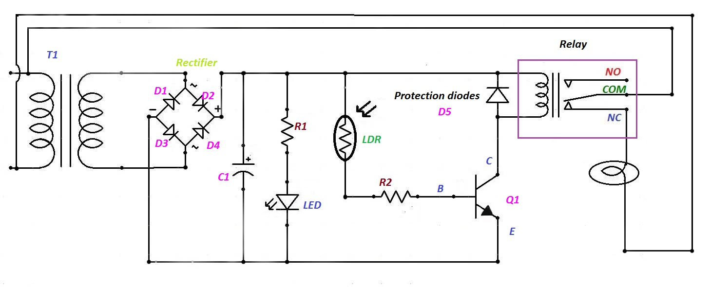 Simple Electrical And Electronics Engineering Projects May 2013 Bright Light For This Ldr Electronic Circuit You Can Use A Wide Range Automatic Night Control