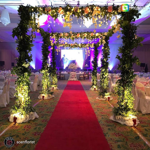 square wedding arch
