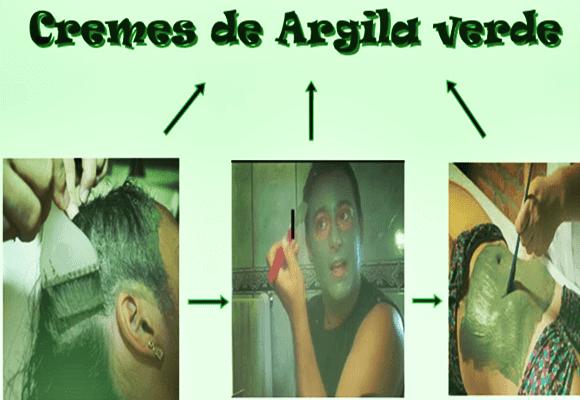 Argila-verde-aplicação