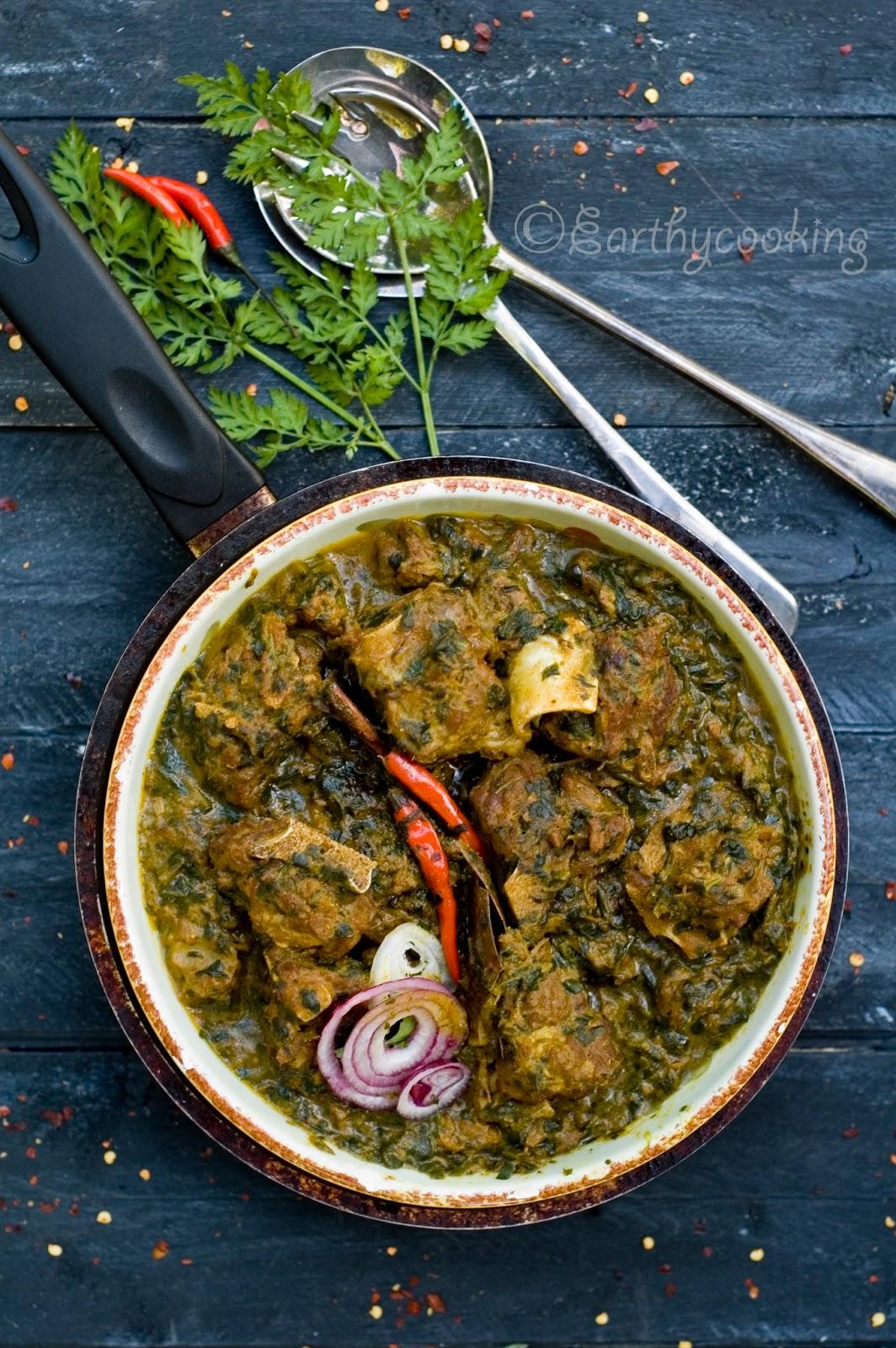 Earthycooking : Lamb Saagwala/Lamb Curry with Spinach Pesto