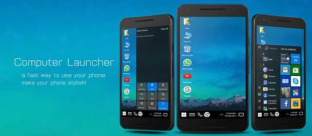 Computer Launcher [Ad-Free] Apk Android Windows Launcher indir