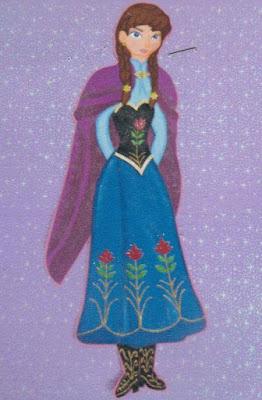 Fiesta Frozen Princesa Ana moldes para descargar
