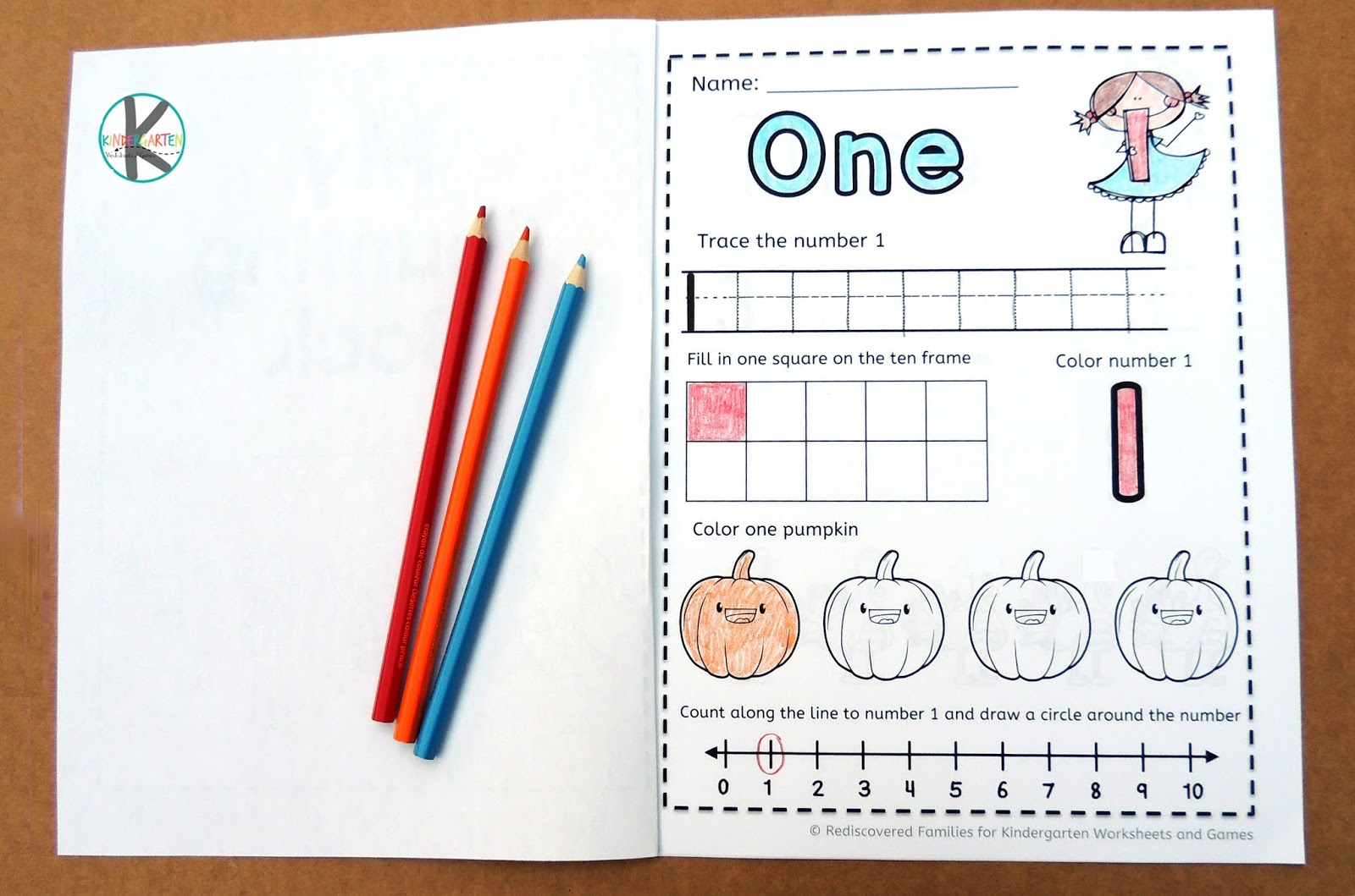 Kindergarten Worksheets And Games Free Fall Counting
