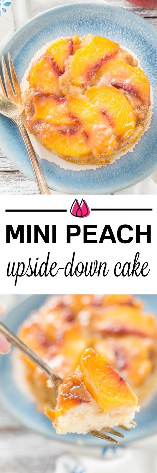 Individual Peach Upside-Down Cakes