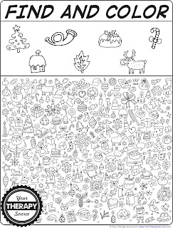 Find and Color Christmas Doodles | Your Therapy Source ...