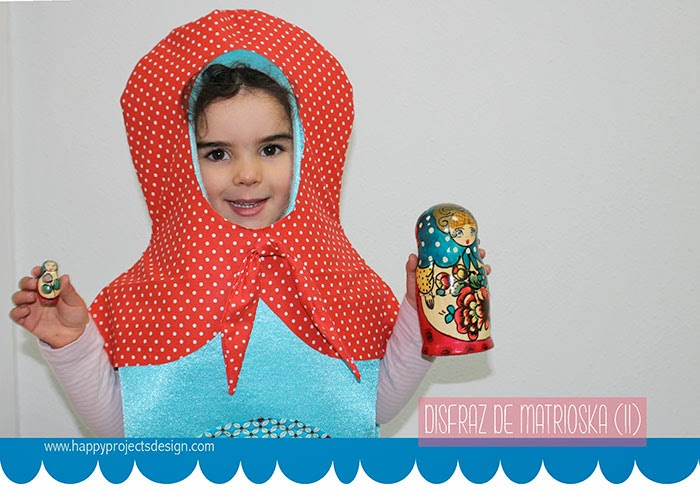 DIY disfraz de muñeca rusa