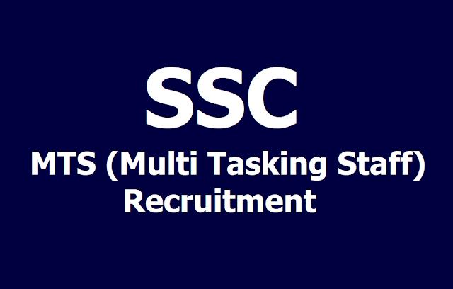 SSC MTS Multi Tasking Staff Recruitment 2019