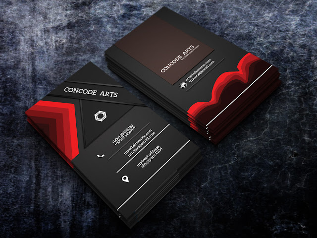 Professional business card templates free download black and red colour professional business cards vol 127 cheaphphosting
