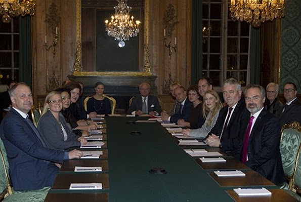 King Carl Gustaf and Crown Princess Victoria of Sweden attended the meeting of Advisory Council the Foreign Relations committee