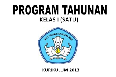 Download program tahunan (Prota) Kurikulum 2013 kelas 1 SD.