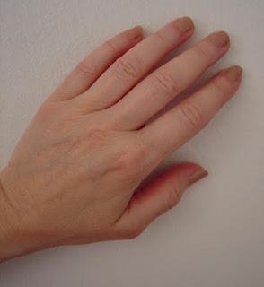 Sally Hansen #841 Pink Sand nails swatched.jpeg