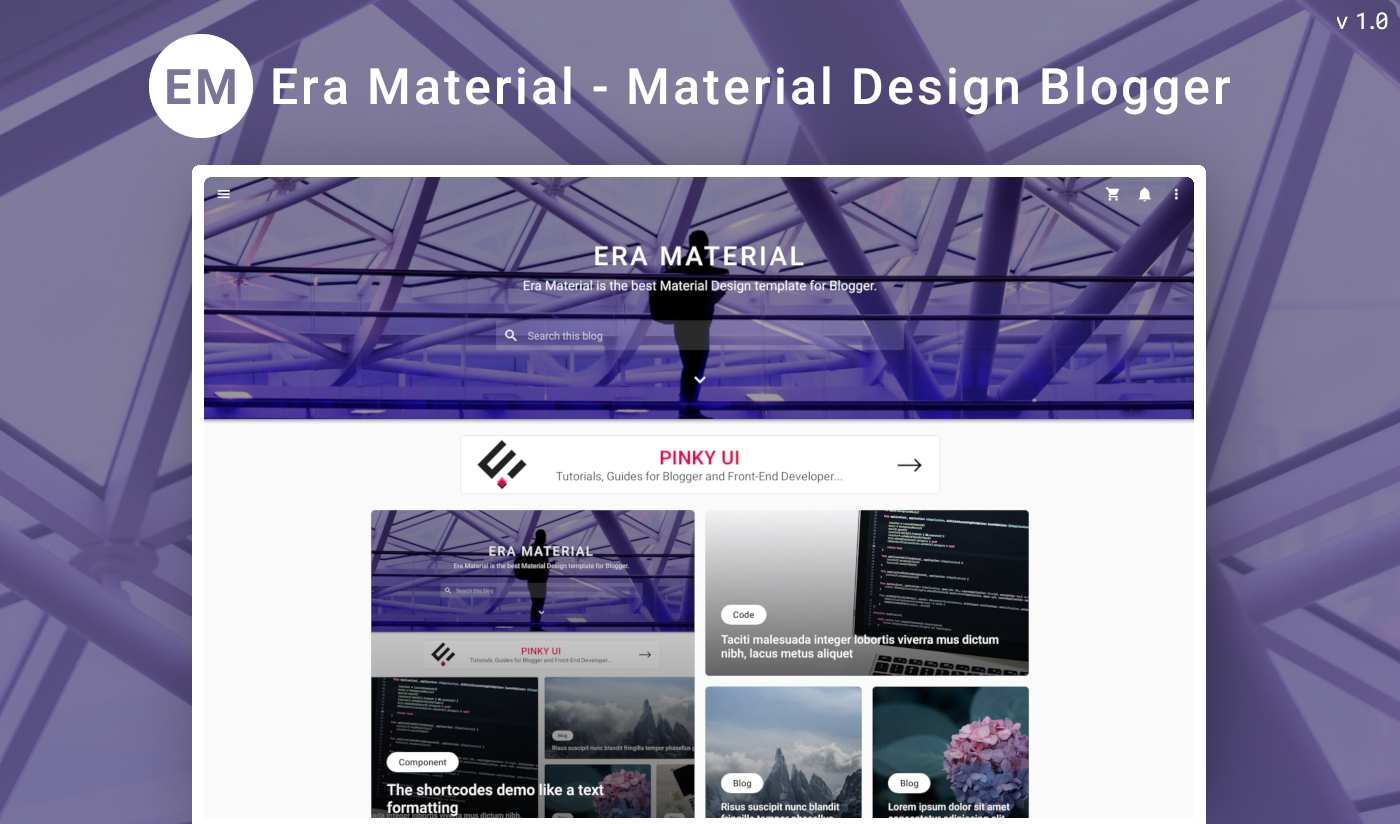 Era Material Blogger Template