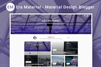 Era Material Blogger Template: Elegant Theme Free Download