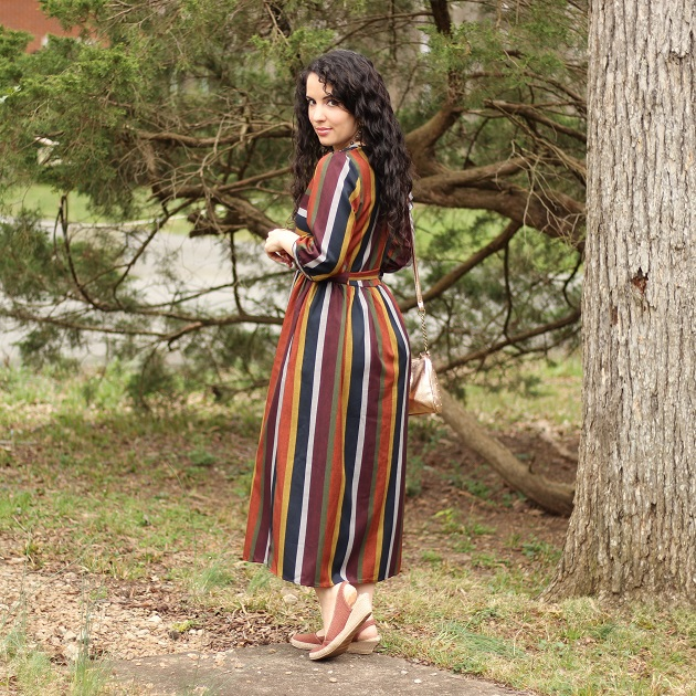 Festival Fashion Idea: Shein Striped Dress