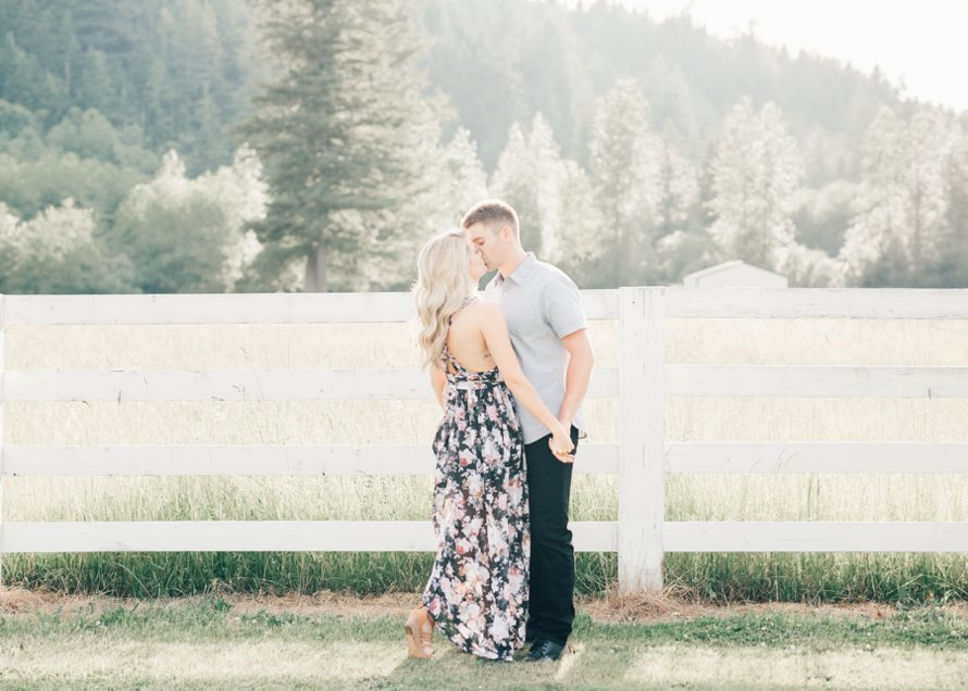 Romantic PNW Ranch Engagement Session-Bonney Lake Wedding Photographers-Something Minted Photography