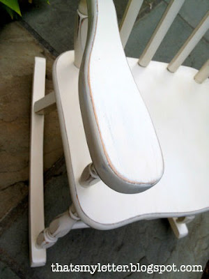 rocking chair makeover distressed edges