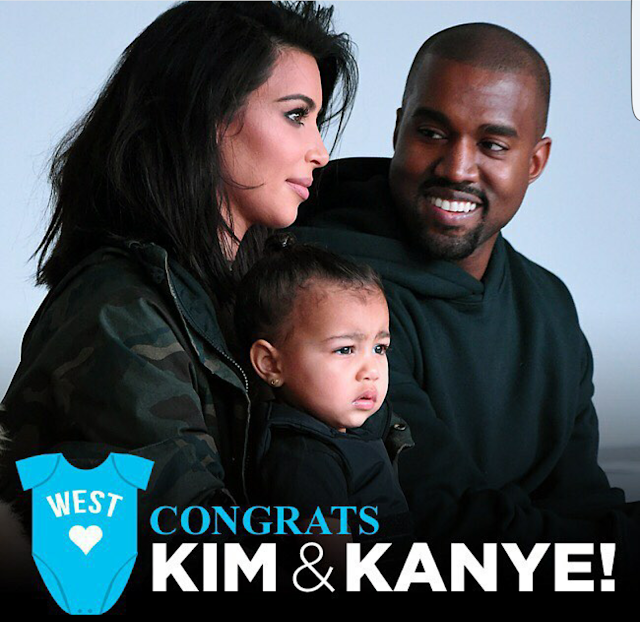 Kim K has given birth to a baby boy