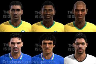 Faces: Aldair, Baggio, Ballack, Donadoni, Pele, Romario PES 2013