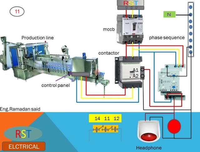 جهاز phase sequence relais يسمي بجهاز الفاز سكونس أو الفيز فيلر