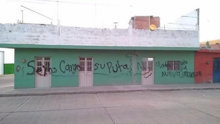 """""""Va a comenzar la guerra"""", CJNG rafaguea casa y pinta amenazas en paredes del lugar en Aguascalientes."""