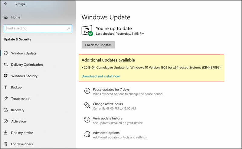 Windows 10 update experience got better with an additional 'Download and install now' button