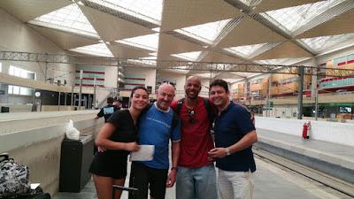 Zaragoza train station, ready to start the adventure