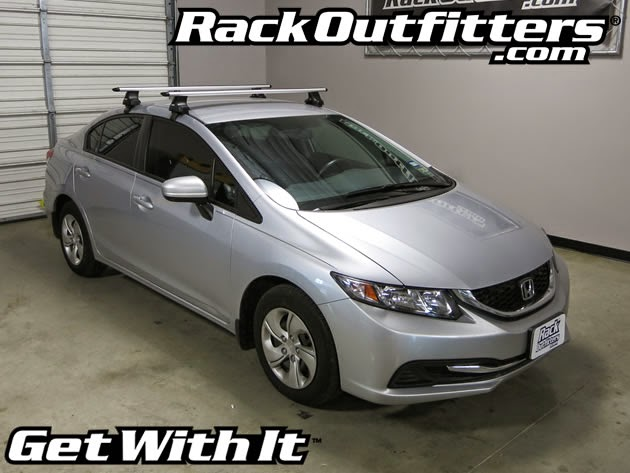 Honda Civic 4 Door Thule Rapid Traverse Silver Aeroblade
