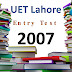 [pdf] UET lahore Entry Test Past Paper year 2007 free Download