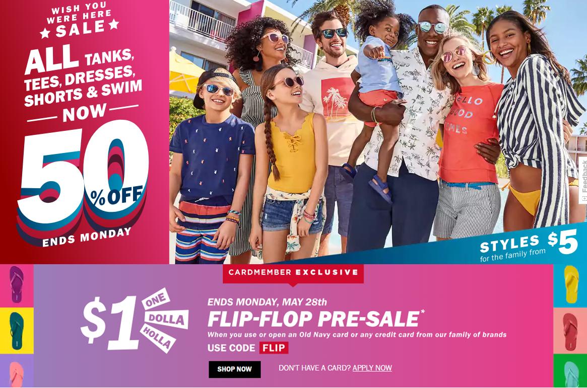 Old Navy: 50% Off Tanks, Tees, Dresses, Shorts & Swim! $10 Kids ...