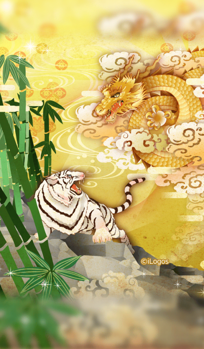 Dragons and tigers calling for luck