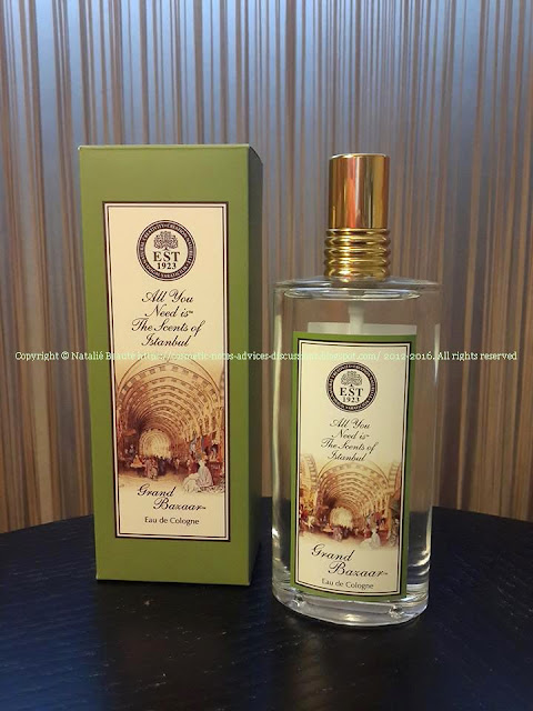 "GRAND BAZAAR - EDC FROM THE COLLECTION ""THE SCENTS OF ISTANBUL"" - EYUP SABRI TUNCER REVIEW AND PHOTO NATALIE BEAUTE"