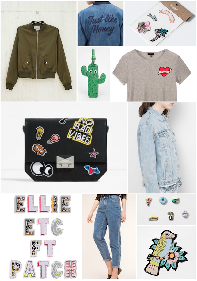 embroidered, embroidery, patch, denim, bomber jacket, ASOS, Primark, DIY, Bershka, Zara, trend, current obsession, pins, Topshop, Stradivarius, skinnydip, Pull and Bear, Rosie Wonders,