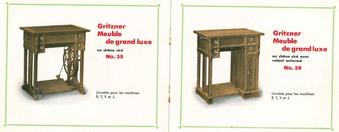 le blog de callisto catalogue des machines coudre gritzner vers 1925. Black Bedroom Furniture Sets. Home Design Ideas